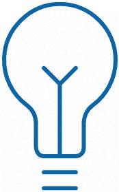 Icon einer Glühbirne